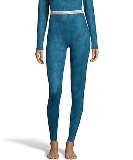 hanes women's print 4-way stretch thermal pant women hanes
