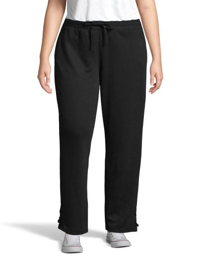 just my size french terry lace up pant women Just My Size