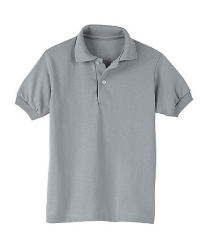hanes kids' cotton-blend ecosmart jersey polo youth Hanes