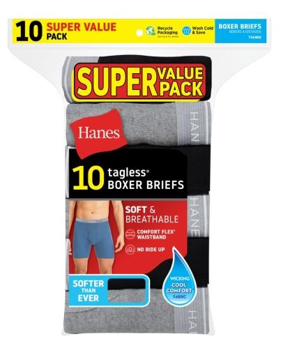 hanes men's boxer briefs with comfortflex® waistband 10-pack men hanes