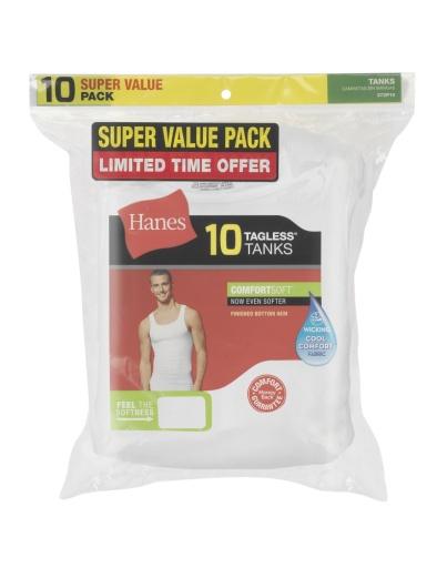 hanes comfortsoft® tank undershirt 10-pack men hanes