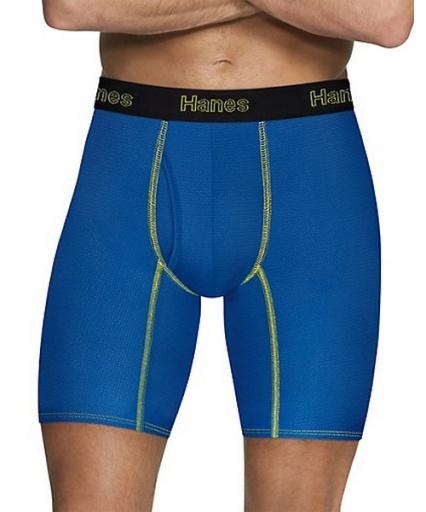 hanes men's comfort flex fit breathable mesh long leg boxer briefs 3-pack men hanes