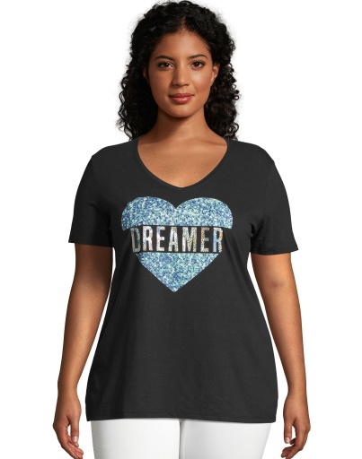 just my size dreaming heart short sleeve graphic t-shirt women Just My Size