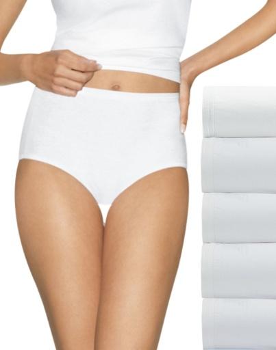 hanes ultimate comfort cotton women's brief panties 5-pack women hanes
