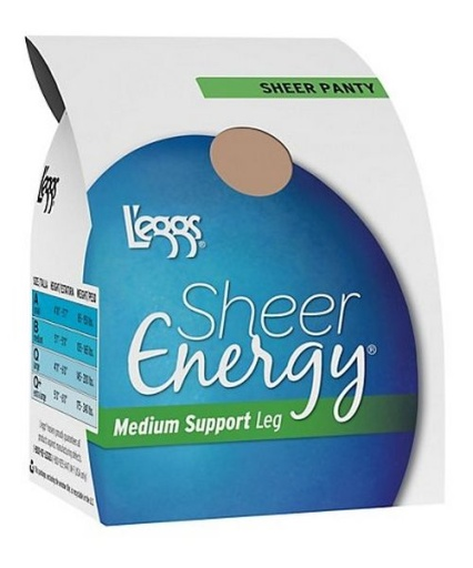 sheer energy sheer toe women L'eggs