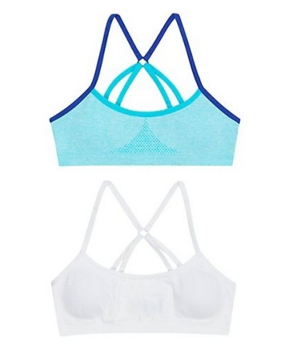 hanes girls molded t-back 2-pack youth Hanes